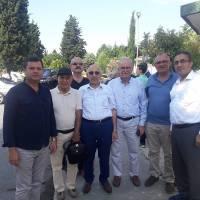 Cihat Kaymas, Mehmet Cemal Çiftçigüzeli, Çanakkale Onsekiz Mart Üniversitesi (ÇOMÜ) Rektörü Prof.Dr. Sedat Murat, Ahsen Okyar, Dr. Oktay Taşolar