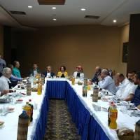 Akça Koca Kültür Platformu üyeleri, İstanbul Vali Yardımcılığına atanan Dr. H.  Hüseyin Can için tertiplenen uğurlama yemeğinde