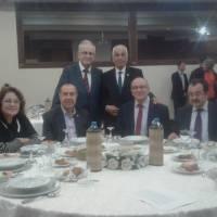 Ön Sıra;  Müjgan- Dr. Alaatin Büyükkaya, Dr. Zülfikar Özkan, Necati Pilavcı Ayaktakiler; Ahsen Okyar, Fevzi Genç
