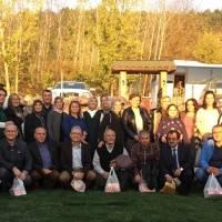 Hasan Uzunhasanoğlu Başkanlığındaki Akça Koca Kültür Platformu üyeleri Taraklı'da İpekyolu Restoranının bahçesinde