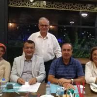 Ahsen Okyar, Emine Uzunhasanoğlu, Akça Koca Kültür Platform Başkanı Hasan Uzunhasanoğlu, e. Avrupa Birliği Bakan Yardımcısı Dr. Alaattin Büyükkaya, Müjgan Büyükkaya ile birlikte