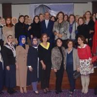Toplantıya katılanlar hanımlar, Müjgan - Dr. Alaattin Büyükkaya çifti ile birlikte